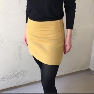 Theory Mustard Mini Skirt